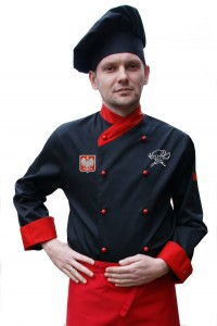 BLUZA KUCHARSKA kitel CHEF Producent CZARNA