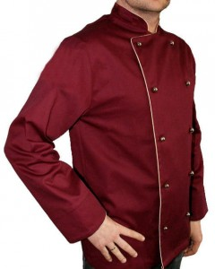 BLUZA KUCHARSKA bordowa Executive Chef Producent model Tantal